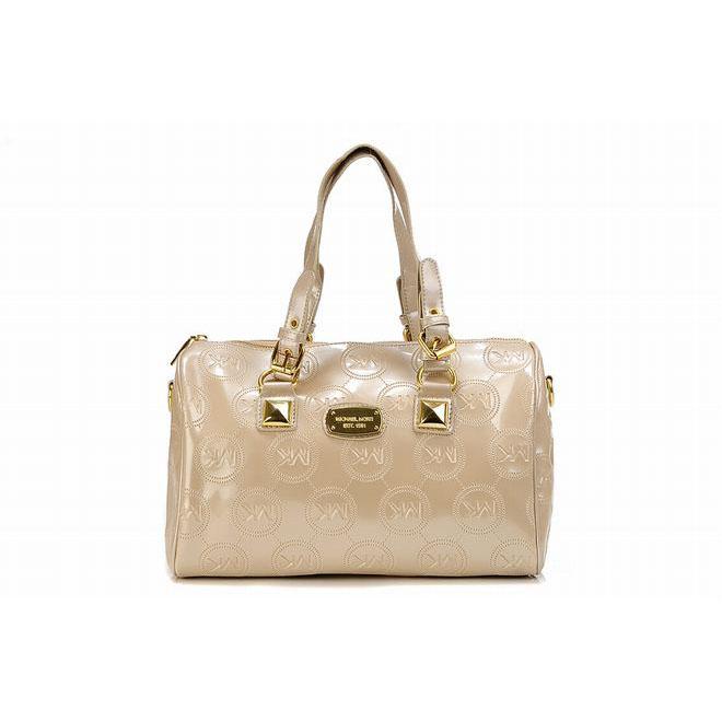 michael kors grayson milk beige satchels monogram for cheap