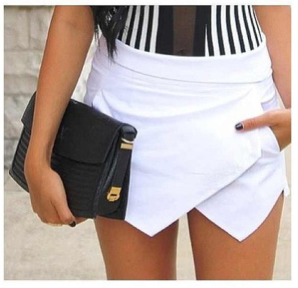 shorts icifashion ici fashion skorts white skort