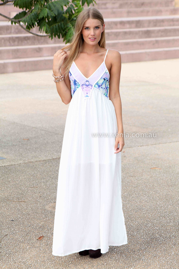 dress xeniaboutique ootd ootn maxi dress qhite maxi dress floral women's clothing and accessories