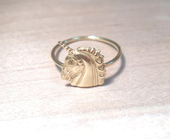 Unicorn Knuckle RingLayering Above the Knuckle Ring by AWildViolet