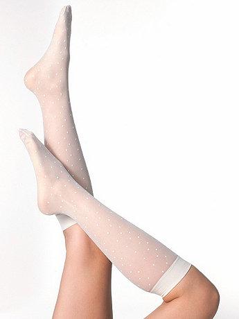 Sheer Calf-High Polka Dot Sock | American Apparel