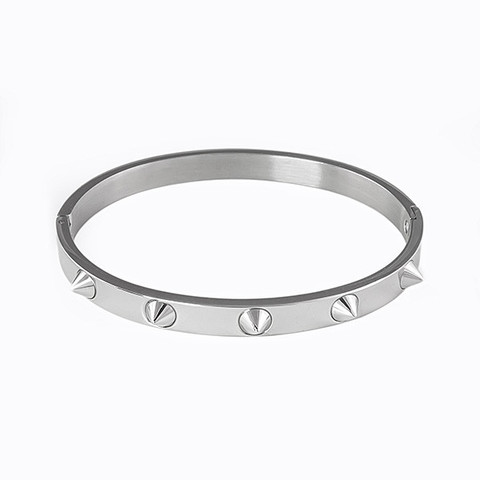 Titanium Stainless Steel Spikes Bangle