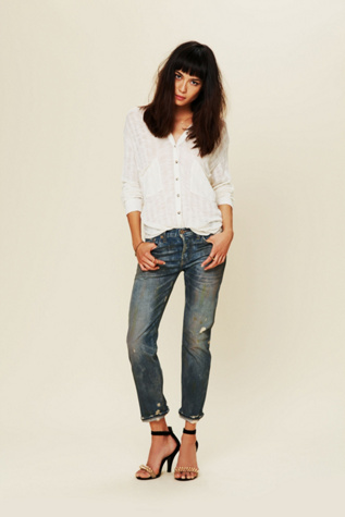 nsf womens oil stained boyfriend jean
