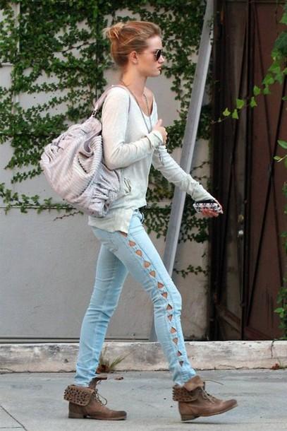 bag jeans blue jeans shoes cute triangle