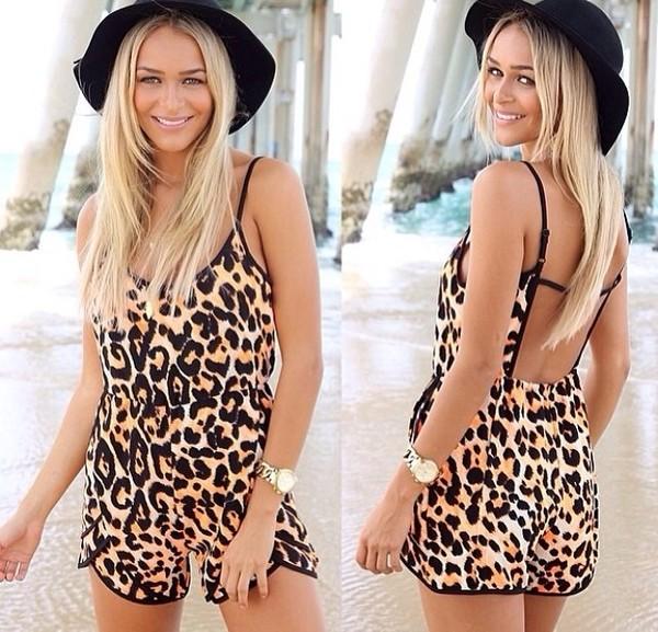dress leopard print jumpsuit onesie romper leopard jumpsuit leopard print hat