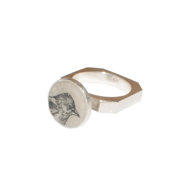 The House Sparrow Square Ring   anzu jewelry