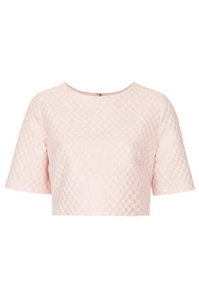 Textured Bubble Crepe Tee - Tops  - Clothing  - Topshop USA