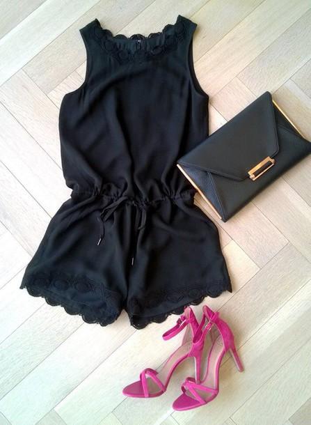 jumpsuit black jumpsuit romper