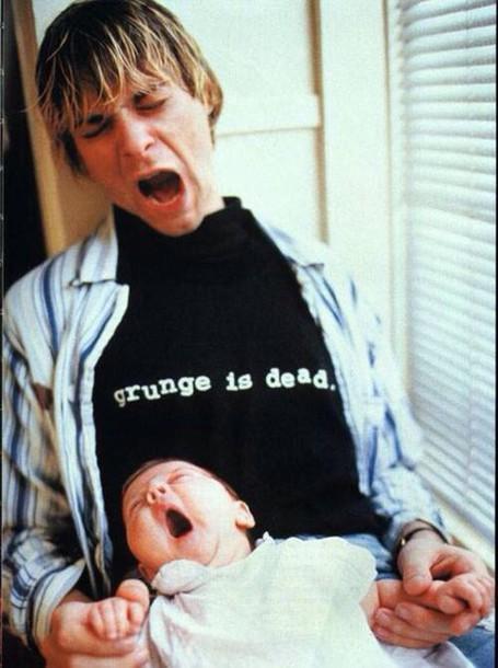 grunge kurt cobain indie alternative band t-shirt black t-shirt t-shirt