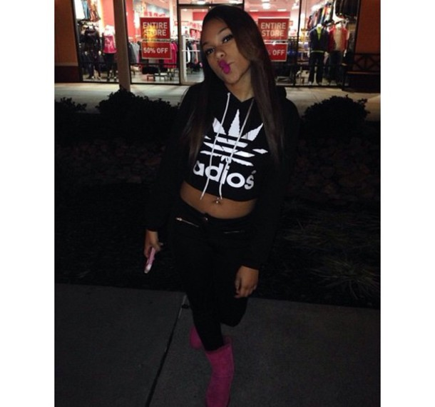 sweater adidas hoodie cropped sweater