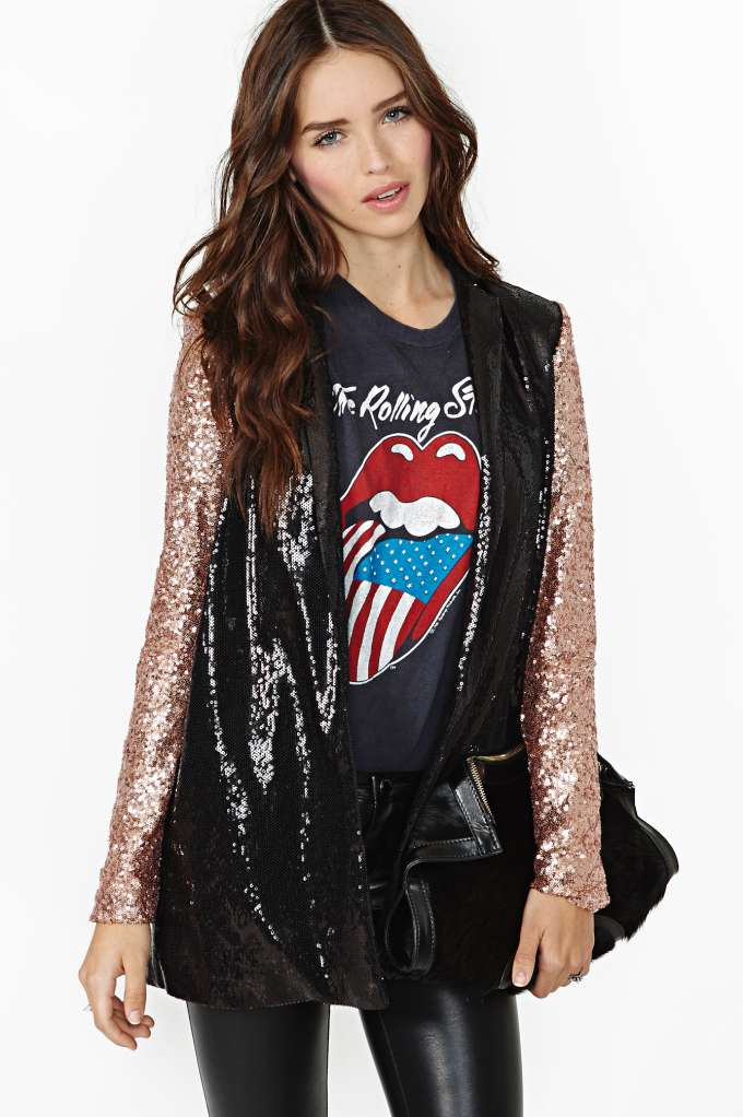 Nasty Gal Glam Rock Sequin Blazer in  Clothes Jackets   Coats at Nasty Gal