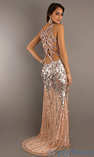Long Sequin Prom Dress, Sequin Formal Prom Gowns - Simply Dresses
