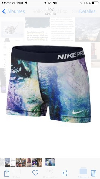 shorts nike nike pro spandex galaxy shorts galaxy print aerial nike aerial aerial print nike pro shorts nike spandex