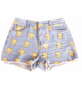Bart Simpson High Waisted Denim Shorts - Bottoms - Ladies (AU$49.00) - Svpply