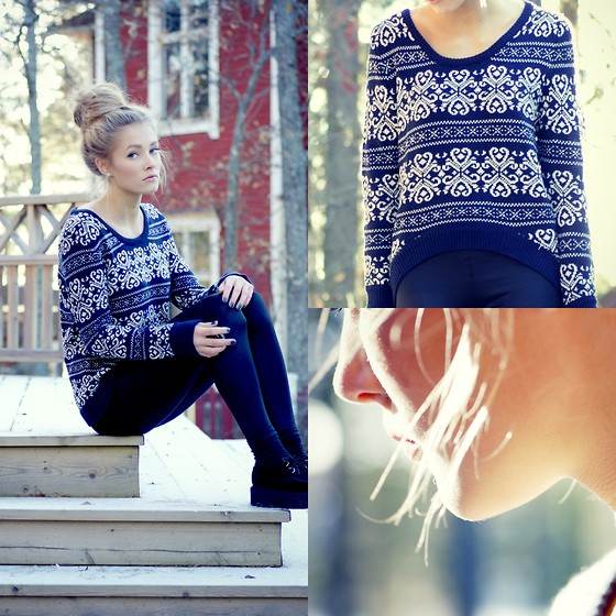 Sweater, Shoes - Snow - Petra Karlsson   LOOKBOOK