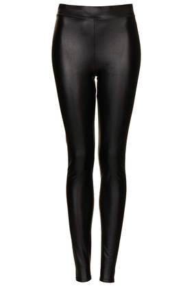 Textured Leather Look Leggings - Leggings - Clothing - Topshop