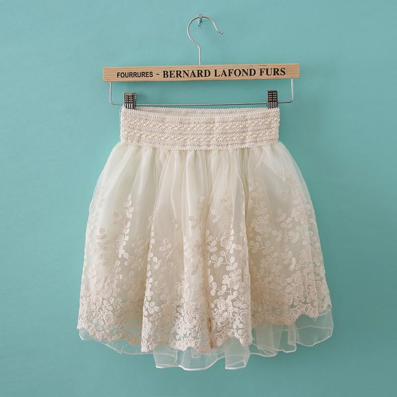 2013 summer women's gauze lace short skirt puff skirt bust skirt short skirt-inSkirts from Apparel & Accessories on Aliexpress.com