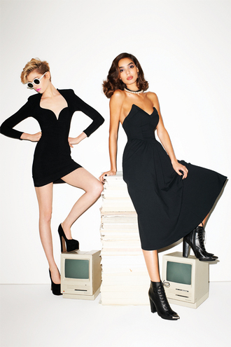 dress nastygal nastygal.com nasty gal fall collection nasty gal collection black dress little black dress sweetheart neckline shoes