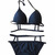 ROMWE   Slim Strap Sexy Black Bikini, The Latest Street Fashion