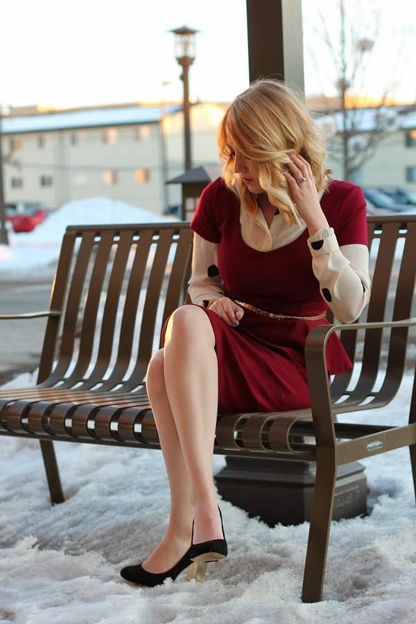 fashion flirtation blouse dress shoes belt jewels