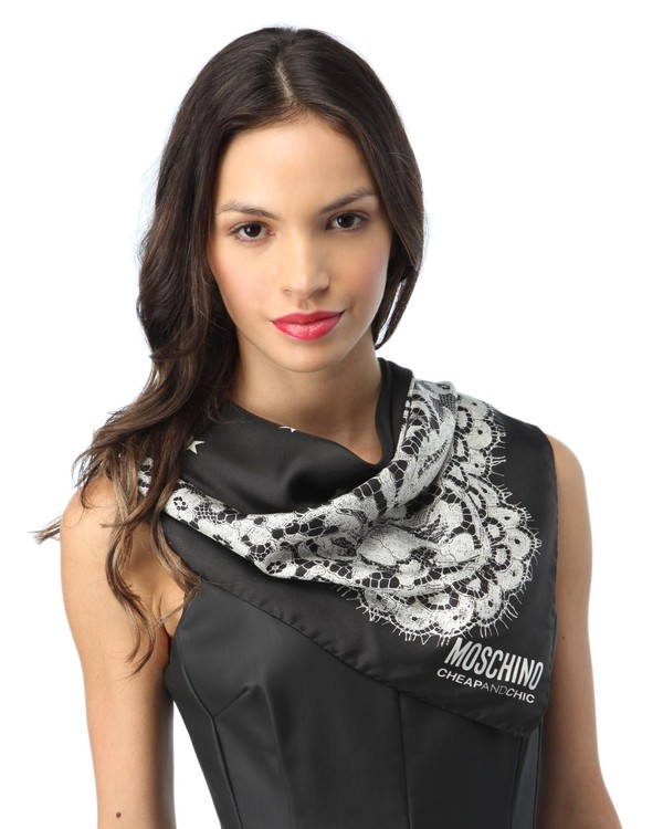 scarf moschino cheap and chic cheap and chic silk scarf square scarf cheap and chic scarf stars and lace moschino