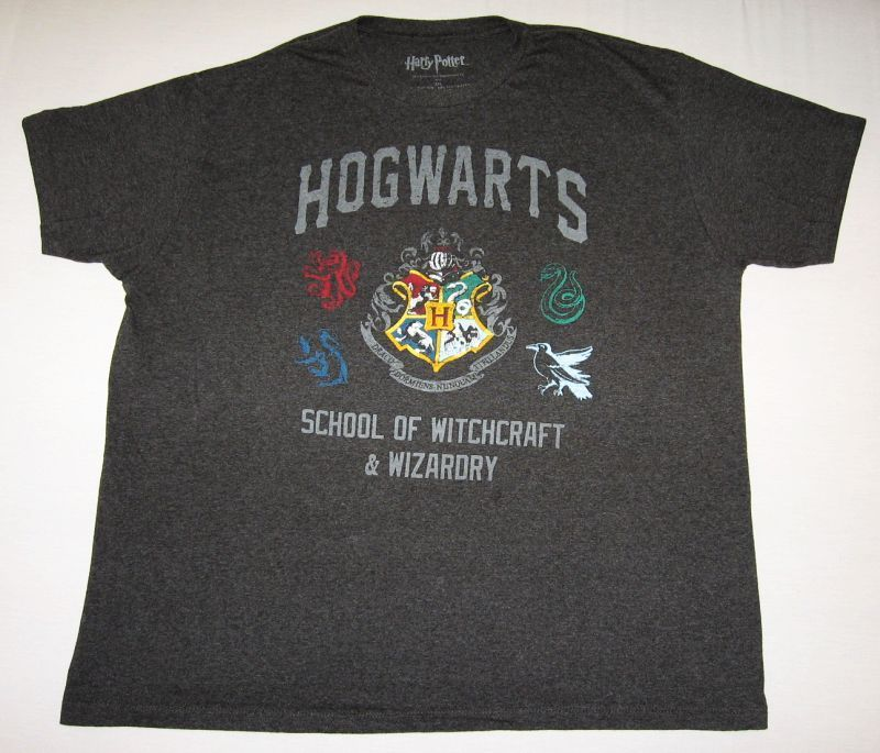 Hogwarts School of Witchcraft and Wizardry T Shirt Size 2XL Harry Potter Hot   eBay