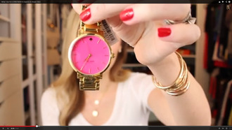 jewels watch pink gold clock jewelry hot pink