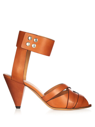 heel sandals leather sandals leather tan shoes