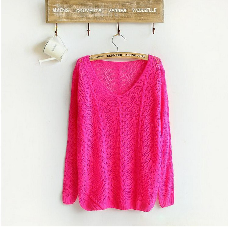 Brand women sweater candy colors women t shirt  famale casual cardigan sweater retail knitwear 2014 hot sale women pullovers-in Pullovers from Apparel & Accessories on Aliexpress.com