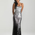 Silver & Black Ombre Sequin Strapless Prom Dress - Unique Vintage - Prom dresses, retro dresses, retro swimsuits.