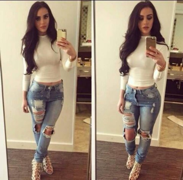 3t4zoq-l-610x610-jeans-blouse-sweater-ripped+jeans-skinny+jeans-turtleneck-shirt-tight+shirt-white-long+sleeves-pants-shoes-distressed+high+waisted+jeans.jpg