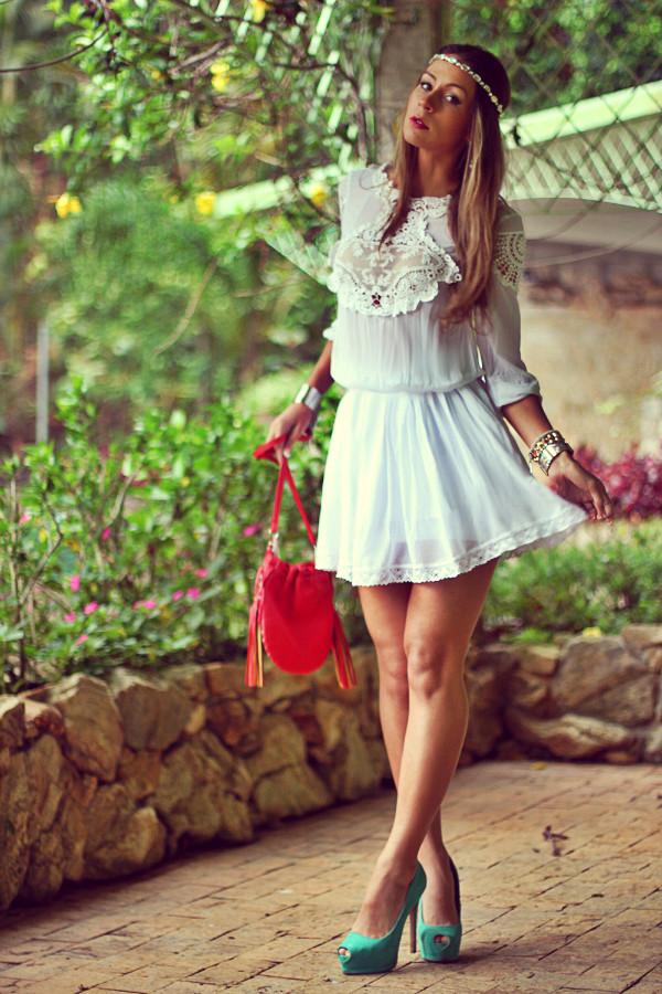 decor e salto alto dress jewels shoes bag