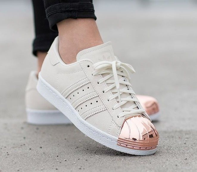 Cheap Adidas originals superstar gold 80's metal toe trainers