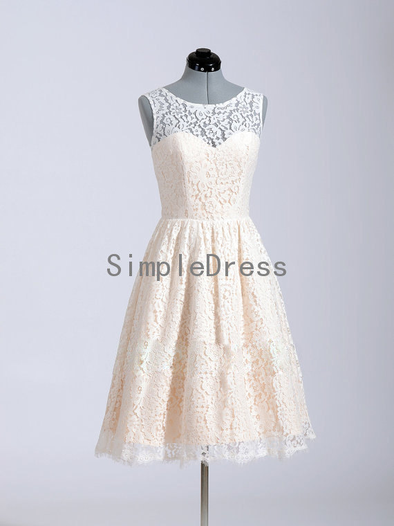 Aliexpress.com : Buy 2014 Hot Selling White Lace Prom Dress Tank Sleeve A line Button Knee length Short Prom Dress Free Shipping from Reliable dress pat suppliers on Simple Dress Store
