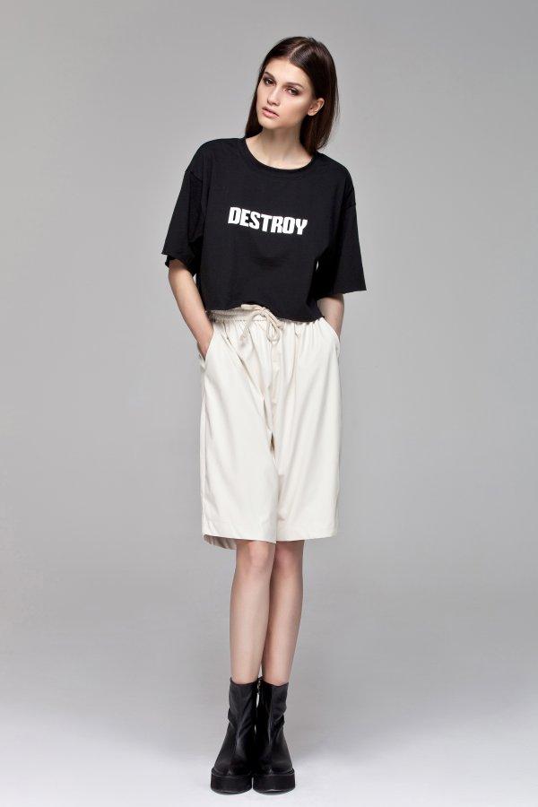 White Leather Shorts BLACKBLESSED