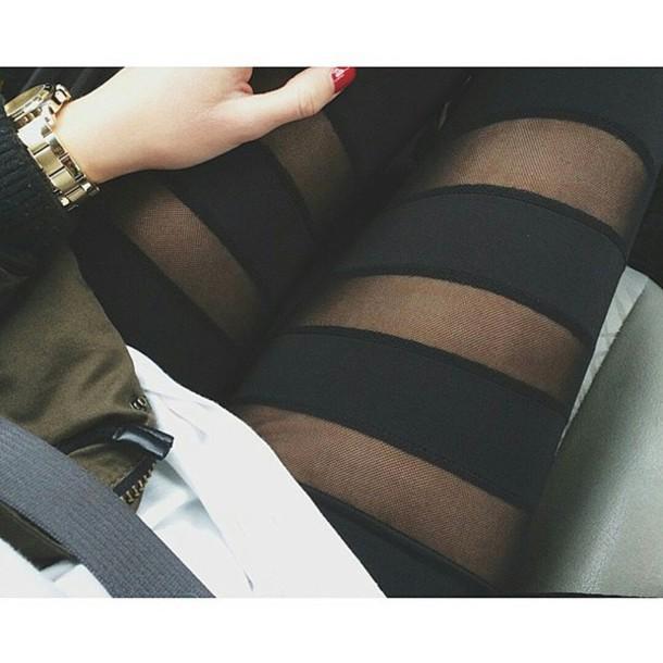 leggings black black mesh mesh leggings mesh black leggings black mesh leggings mesh stripe detail stripes striped leggings