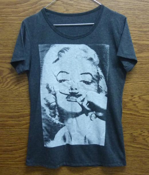 t-shirt marilyn monroe funny shirt
