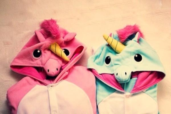 sweater onesie pink gay pride unicorn jacket jumpsuit pajamas eenhoorn horn halloween pajamas funny sweet