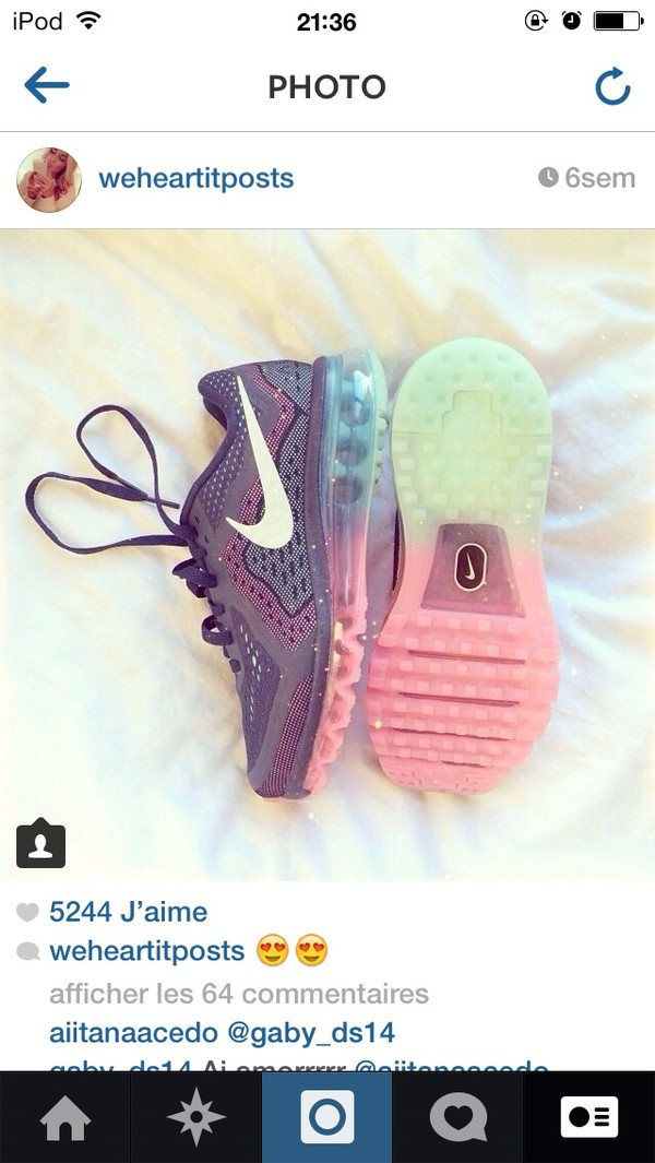 shoes nike free run purple blue pink tuquoise lovely nike air max 90 floral