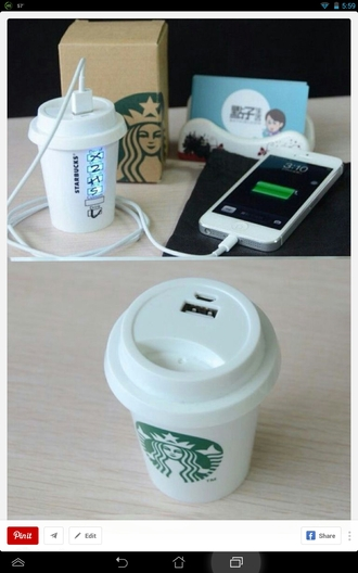 phone cover technology starbucks coffee charger iphone charger solar charger phone charger iphone iphone case iphone accessories phone accessories home accessory sweater portable charger coffee starbucks charger green white earphones iphone portable charger pinterest starbucks iphone charger
