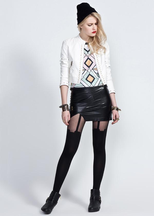 skirt leather skirt mini skirt summer outfits cool punk rock stylemoi tank toptank top toptop tank crop crop topscrop tops cropped tank top crop tops bodycon tank top cro