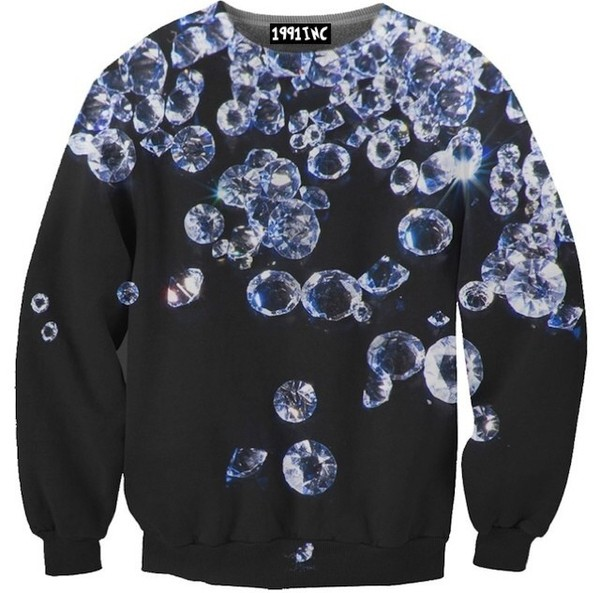sweater black diamonds