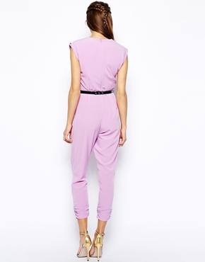 River Island | River Island Wrap Front Jumpsuit at ASOS