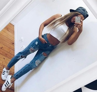 jeans socks style scrapbook girly fashion toast perfecto nike shoes cardigan make-up style adidas