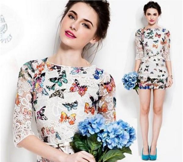 dress white dress lace lace dress flowers