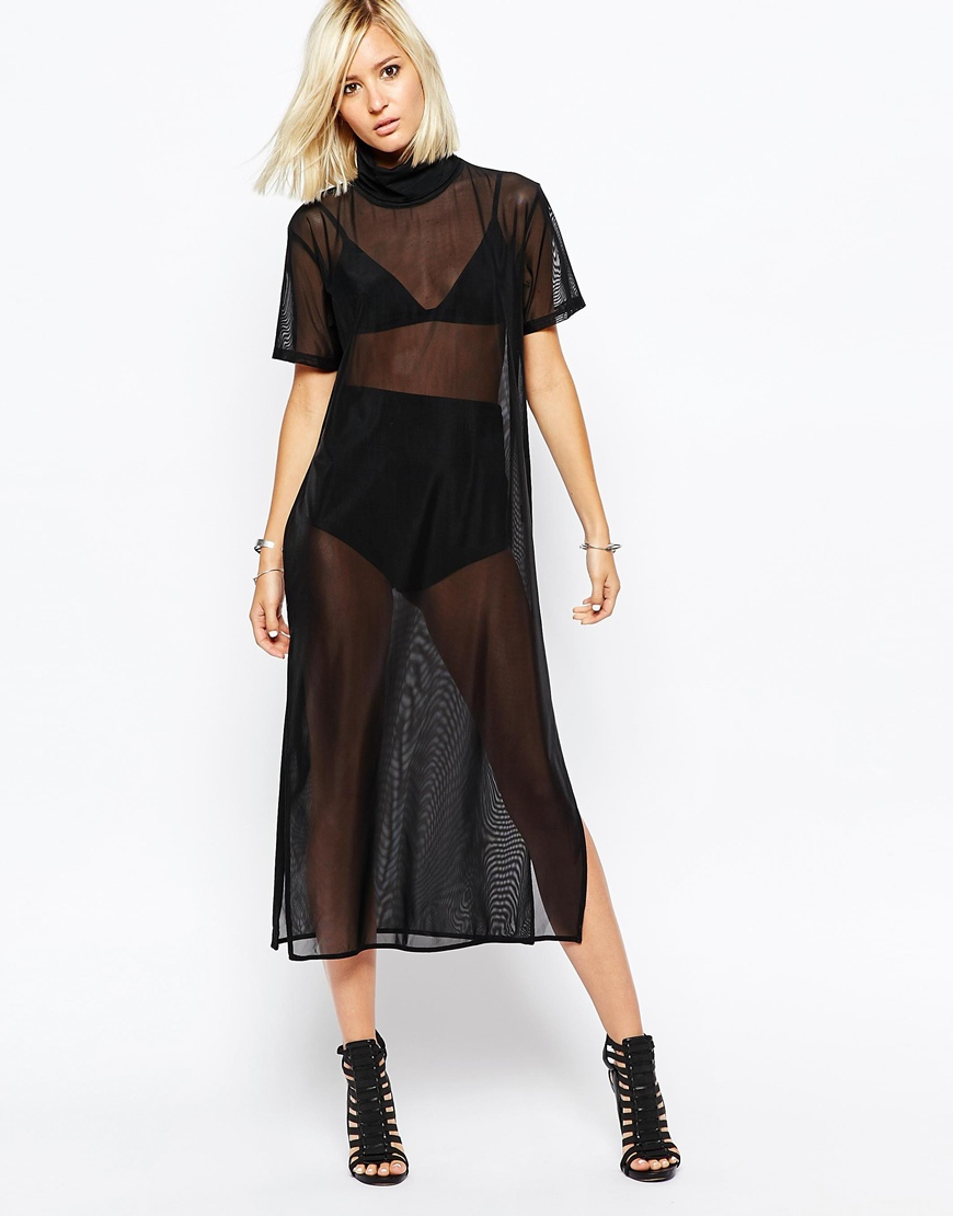 Greatest Religion High Neck Tunic Dress In Sheer Fabric at asos.com ZW94