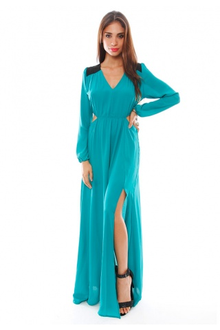 Donna Mizani Double Side Cut Out Maxi Dress | SINGER22.com