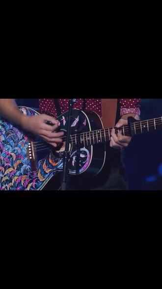 shirt guitar birds rainbow the voice