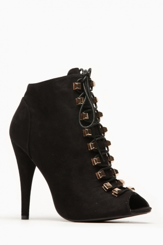 Liliana Boho Peep Toe Lace Up Black Bootie @ Cicihot. Booties spell style, so if you want to show what you're made of, pick up a pair. Have fun experimenting with all we have to offer!