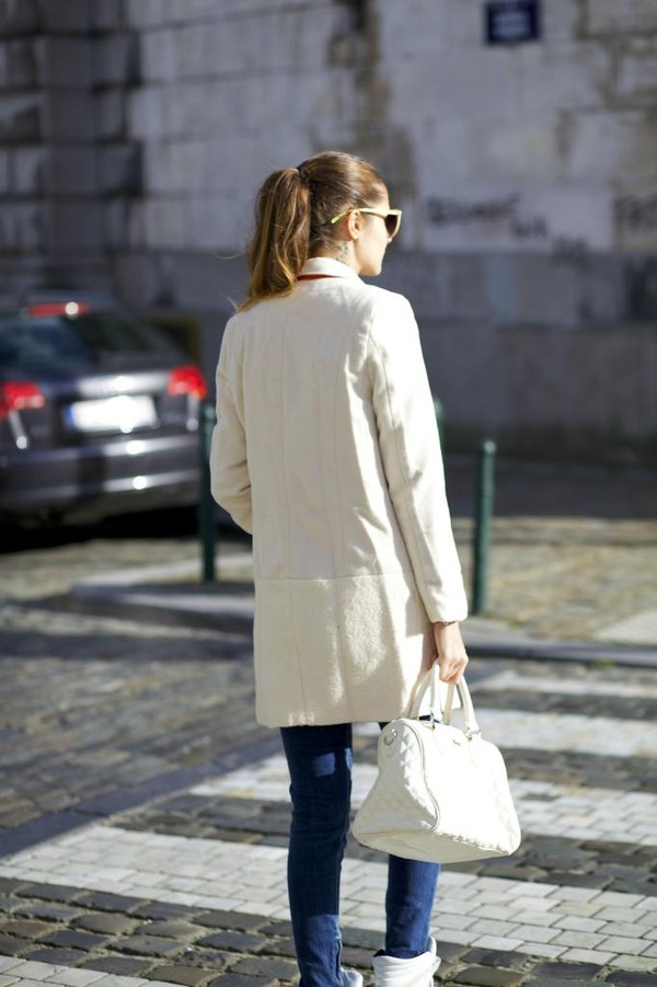 from brussels with love coat jeans shoes bag jewels sunglasses